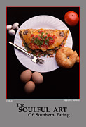 Fine Art Photograph Art - The Soulful Art Of Southern Eating-Omelet by Jerry Taliaferro