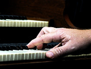 Piano Player Prints - The Sound of Hands  Print by Steven  Digman