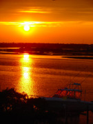 Topsail Island Photo Originals - The Sound of Sunset by Laura Brightwood