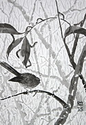 Flycatcher Painting Originals - The Sound of the Caterpillars by Phong Trinh