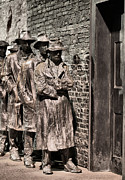 The Great Depression Art - The Soup Line by JC Findley