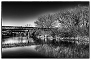 Denver Framed Prints - The South Platte Bridge Reflected Framed Print by David Patterson