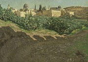 Landscape In Israel Prints - The Southwest Corner of the Esplanade of the Haram Print by Tissot