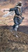 Gouache Painting Prints - The Sower Print by Tissot