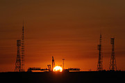 Kazakhstan Prints - The Soyuz Launch Pad At The Baikonur Print by Stocktrek Images