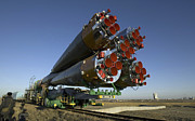 Kazakhstan Prints - The Soyuz Rocket Is Rolled Print by Stocktrek Images