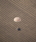 Kazakhstan Prints - The Soyuz Tma-14 Spacecraft Lands Print by Stocktrek Images