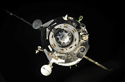 The Soyuz Tma-17 Spacecraft Departs Print by Stocktrek Images
