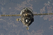 Outer Space Metal Prints - The Soyuz Tma-19 Spacecraft Metal Print by Stocktrek Images
