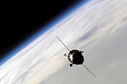 Spacecraft Art - The Soyuz Tma-3 Spacecraft Orbiting by Stocktrek Images