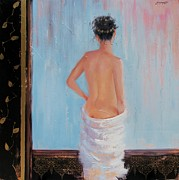 Relax Paintings - The Spa two by Laura Lee Zanghetti