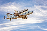 The Golden Gate Prints - The Space Shuttle Endeavour Print by David Yu