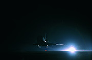 Space Shuttle Photo Prints - The Space Shuttle Landing Print by Stockbyte