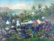 Segregation Prints - The Spanish American War. The Battle Print by Everett