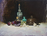 Red Wine Paintings - The Spanish Bottle by Roger Clark