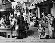 City Streets Prints - The Spectacle Seller. A Market Scene Print by Everett