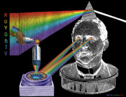 Rainbow Art Mixed Media - The Spectre of Chromatopia by Eric Edelman