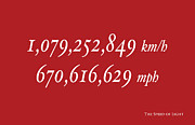 Text Posters - The Speed of Light Poster by Michael Tompsett