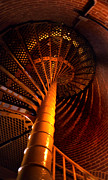 Beautiful Lighthouses Prints - The Spiral At Barnegat Print by Skip Willits