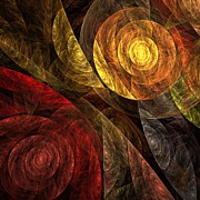 The Posters Digital Art - The Spiral of Life by Oni H