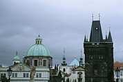 Charles Bridge Prints - The spires and domes of Print by Taylor S. Kennedy