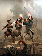 American Army Painting Framed Prints - The Spirit of 76 Framed Print by War Is Hell Store