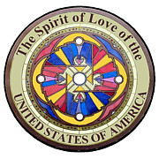 Citizen Painting Prints - The Spirit of Love of the United States of America Print by Ahonu