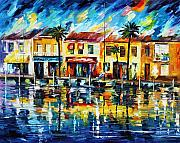 Building Painting Originals - The Spirit Of Miami  by Leonid Afremov