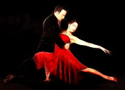 Digital Dancer Posters - The Spirit of Tango Poster by Stefan Kuhn