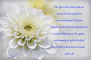 Gospel Prints - The Spirit Of The Lord Is Upon Me Print by Kathy Clark