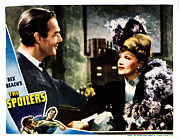Atcmposterart Posters - The Spoilers, From Left Randolph Scott Poster by Everett