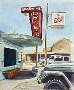 Arkansas Paintings - The Sportsmans Drive-In by Tansill Stough