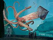 Pop Art Painting Posters - The Squid Poster by Scott Listfield