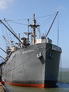 World Wars Posters - The SS Jeremiah Obrien Liberty Ship At Fishermans Wharf . San Francisco California . 7D14431 Poster by Wingsdomain Art and Photography
