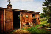 Wood Bench Prints - The Stable Print by Paul Ward