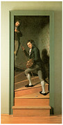 Peale Painting Posters - The Staircase Group Poster by Charles Wilson Peale