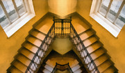 Picturesque Painting Prints - The staircase reflection Print by Odon Czintos