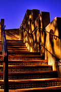 Tlaquepaque Sedona Arizona Posters - The Stairway at Tlaquepaque Poster by David Patterson
