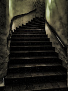Scary Photo Acrylic Prints - The Stairwell Acrylic Print by Cheryl Young