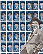 Frank Sinatra Mixed Media - The Stamp Collection - Frank Sinatra by Spencer McKain