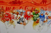 Sports Montage Posters - The Stanford Legacy  3 Poster by Cliff Spohn
