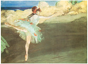Impressionism Metal Prints - The Star Dancer on Point Metal Print by Edgar Degas
