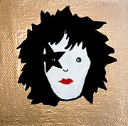 Kiss Mixed Media Prints - The Starchild Print by Jera Sky