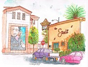 Inns Prints - The-Starlet-Motel-and-Warner-Bros-offices-Burbank-CA Print by Carlos G Groppa