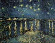 Night Posters - The Starry Night Poster by Vincent Van Gogh