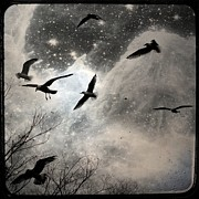 Storm Digital Art Prints - The Stars Print by Gothicolors With Crows