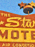 Motel Digital Art Prints - The Stars Motel Print by Wingsdomain Art and Photography