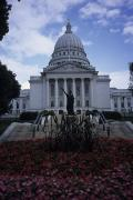 Governmental Prints - The State Capitol Building In Madison Print by Paul Damien