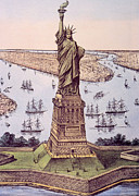 Currier  Photos - The Statue Of Liberty Aka The Great by Everett
