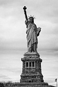 Historic Statue Prints - The Statue Of Liberty New York Usa Print by Joe Fox